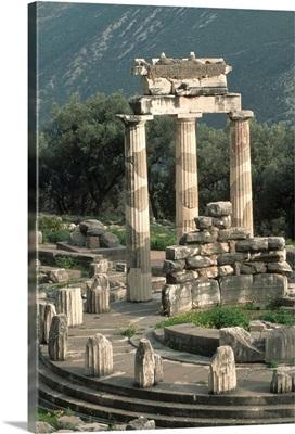 Ruins Of Sanctuary Of Athena At Delphi
