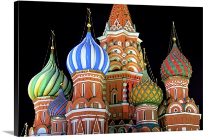 Saint Basil's Cathedral on Red Square, Moscow.