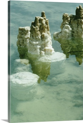 Salt deposits and formations in the Dead Sea