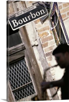Saxophone player on Bourbon Street