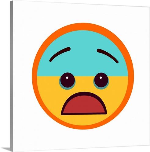 scared emoji wall art canvas prints framed prints wall peels