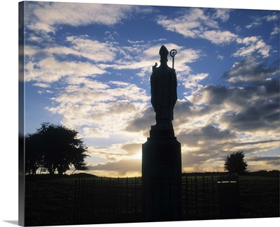 Sculpture of St Patrick, Hill of Tara, Co Meath, Ireland