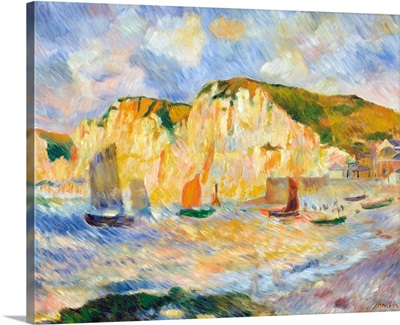 Sea And Cliffs By Pierre-Auguste Renoir