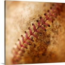 Seam on antique baseball