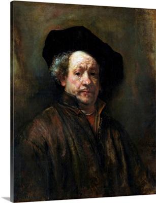 Self-Portrait By Rembrandt Van Rijn
