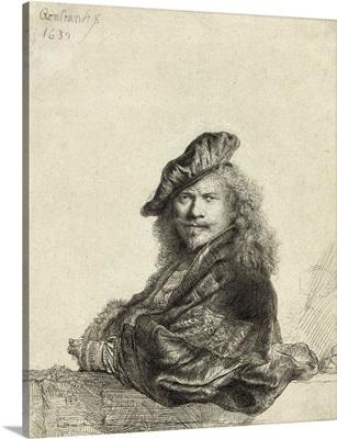 Self-Portrait Leaning On A Sill By Rembrandt Harmensz Van Rijn