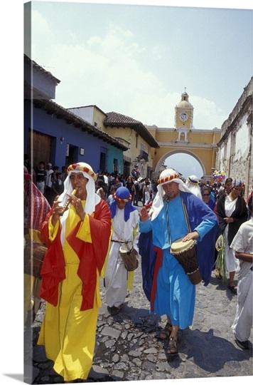 Semana Santa, Palm Sunday, Antigua, Guatemala
