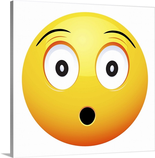 Emoji Wall Art shocked emoji with open mouth wall art, canvas prints, framed