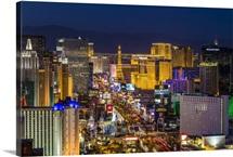 Skyine at twilight, Las Vegas, Nevada