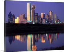 Skyline at night, Dallas, Texas