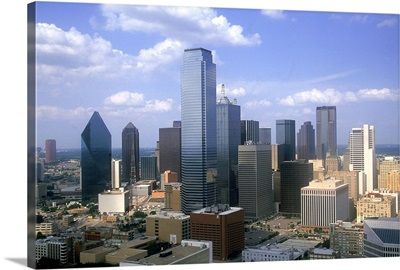 Skyline from Reunion Tower looking north, Dallas, Texas