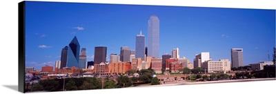 Skyline from Stemmons Freeway, Dallas, Texas