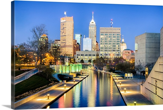 skyline indianapolis indiana wall art canvas prints framed
