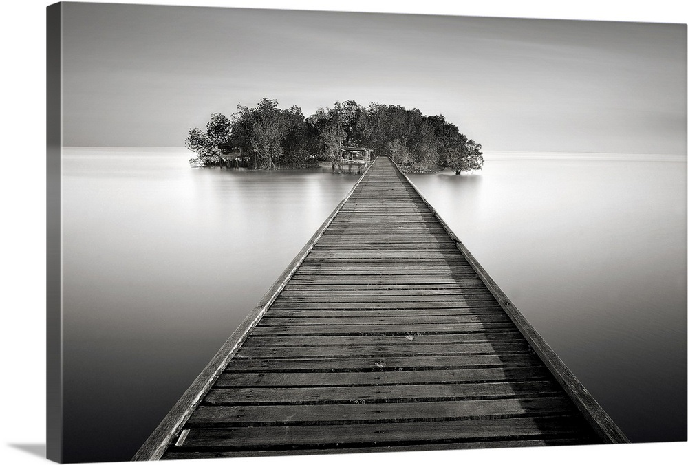 Small Island Fisherman That Is Linked By Wooden Bridge From