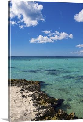 snorkeling off tropical beach, Dominican Republic