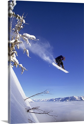 Snowboarder in mid-air Wall Art, Canvas Prints, Framed Prints, Wall ...