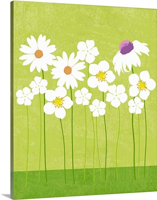 Spring Flowers graphic poster