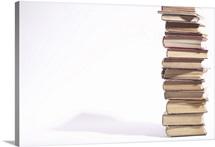 Stack of schoolbooks