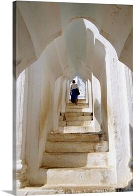 Stairway in Hsinbyume Pagoda, Myanmar