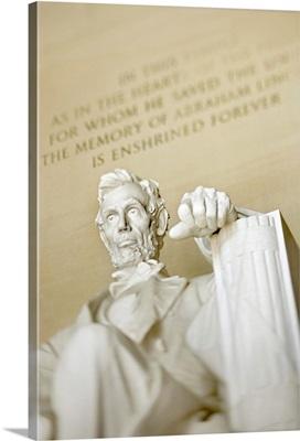 Statue of Abraham Lincoln, Lincoln Memorial, Washington, DC