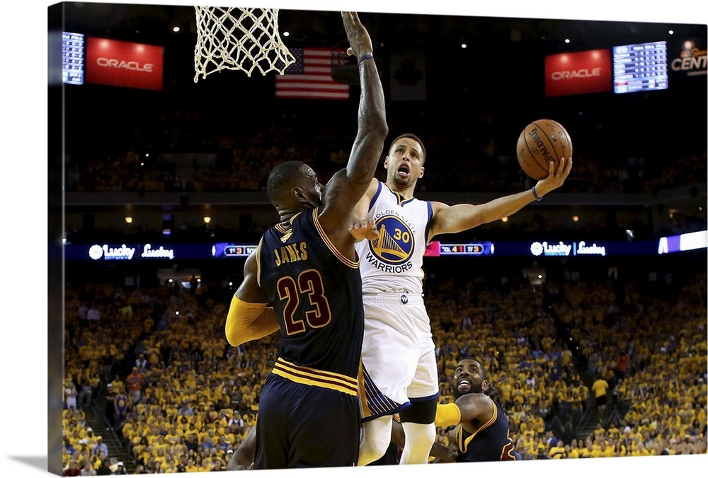 check out 49591 2055c Stephen Curry goes up for a shot against LeBron James, Game 2, NBA Finals  2016