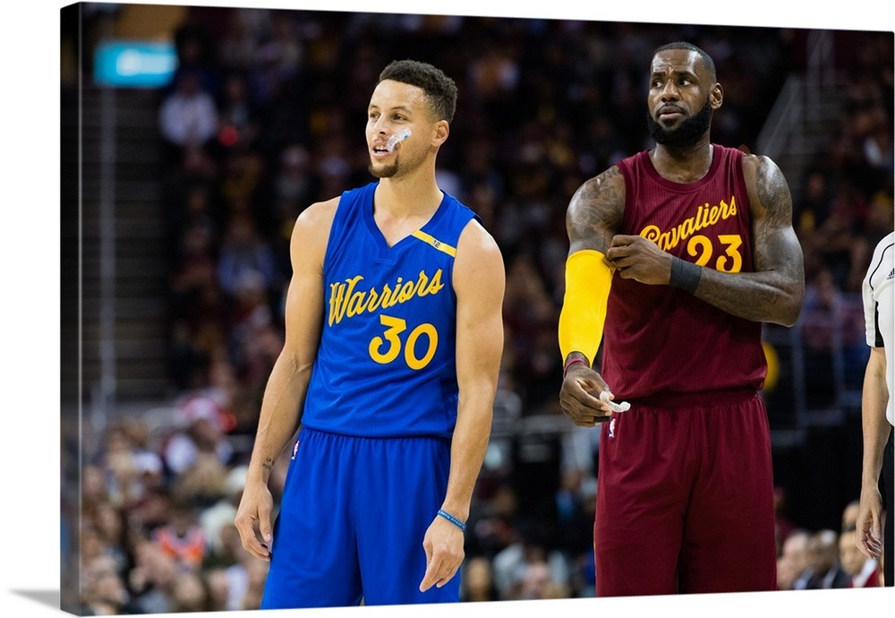 the best attitude 83761 82127 Stephen Curry of the Golden State Warriors and LeBron James of the  Cleveland Cavaliers