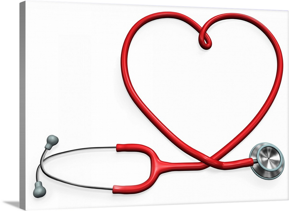 Stethoscope Forming A Heart Shape Wall Art Canvas Prints Framed Prints Wall Peels Great Big Canvas