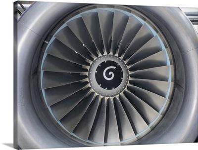 Still jet airplane engine