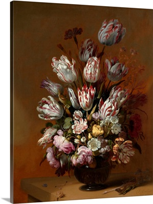 Stilleven Met Bloemen (Still Life With Tulips And Other Flowers) By Hans Bollongier