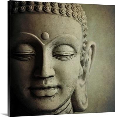 Stone Buddha head.