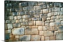 Stone wall, Peru, South America