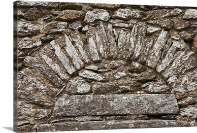 stone work in a design on a wall