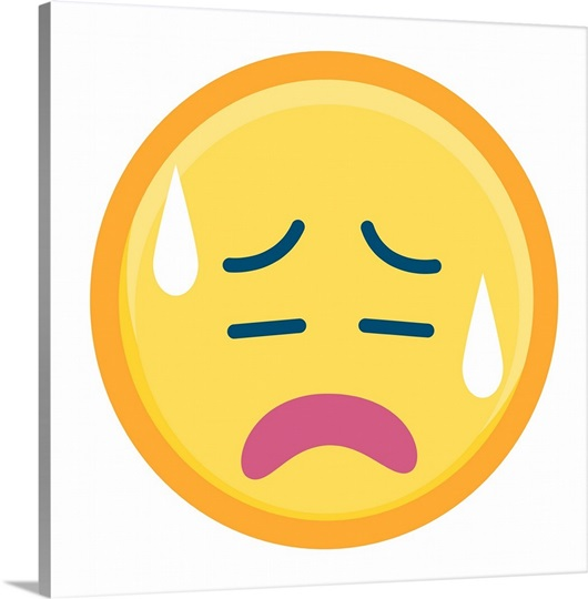 Stressed Out Emoji Wall Art, Canvas Prints, Framed Prints ...