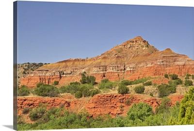 Successive rock layers, Palo Duro Canyon, Texas.
