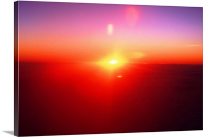 sun view from airplane