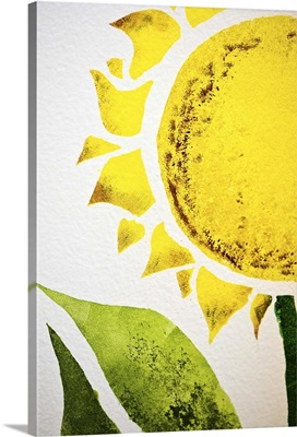 Sunflower painted on wall