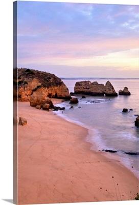 Sunrise at Praia Dona Ana Beach in Lagos, Portugal