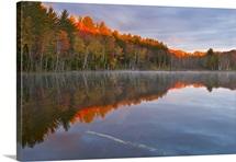 Sunrise light on Council Lake in the Upper Peninsula; Hiawatha National Forest, MI