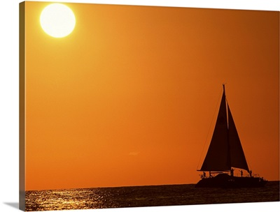 Sunset and Yacht