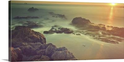 Sunset at Laguna Beach California, USA.