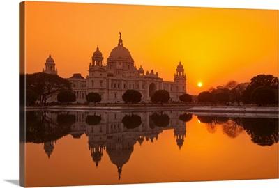 Sunset at the Victoria Memorial, Calcutta
