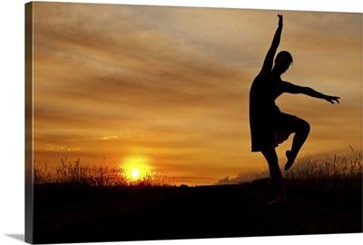 Sunset ballerina