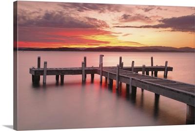 Sunset in Belmont, Lake Macquarie, central coast, NSW, Australia.