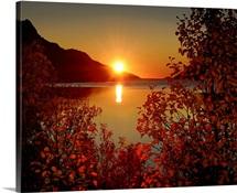Sunset in Ersfjordbotn.