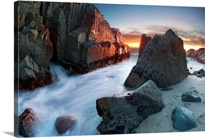 Sunset onrocks, Point Mugu, Ventura country, California