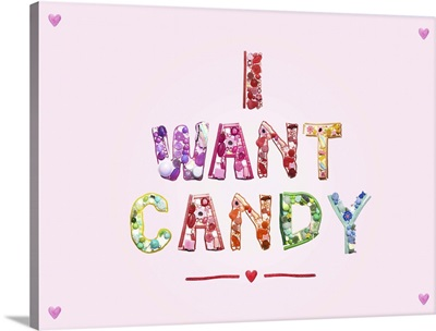 Sweets and Candy spelling I Want Candy