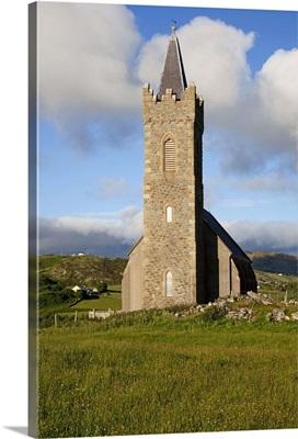 Tall stone church, Glencolumbkille, County Donegal, Ireland