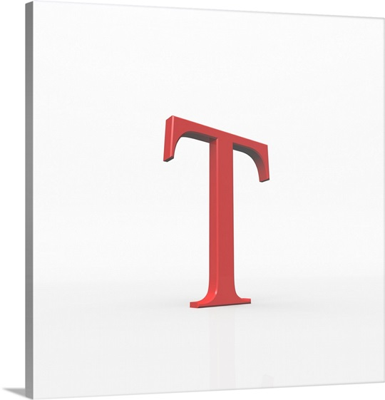 tau is the 19th letter of the greek alphabet. wall art, canvas
