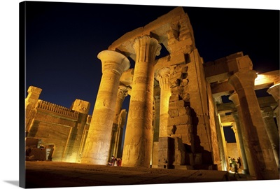 Temple of Sobek and Haroeris at night, Egypt