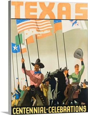 Texas Centennial Celebrations Poster By Florian